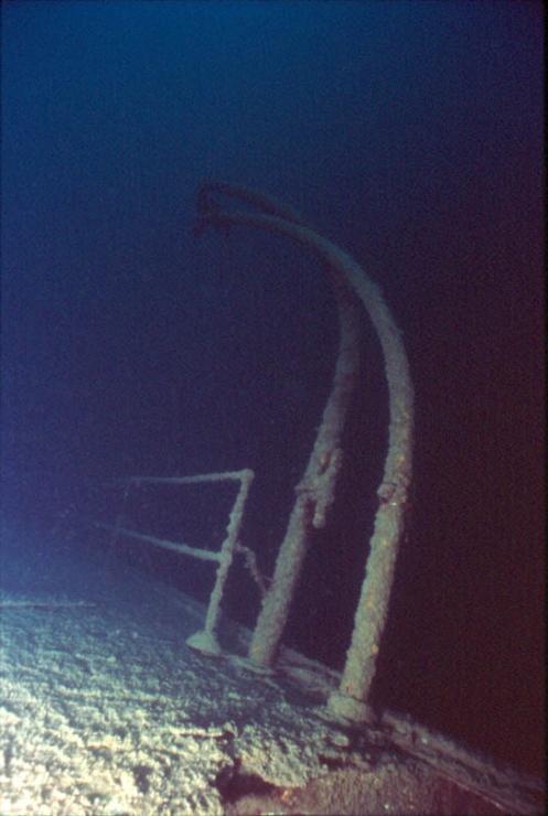 Lifeboat Davit On The Shipwreck America