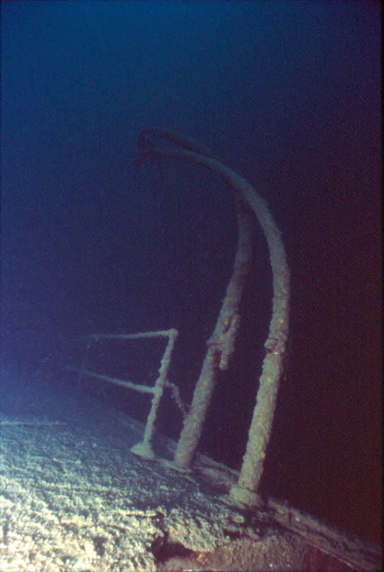 Lifeboat Davit On The Shipwreck America