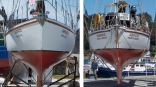 Hull In Slings, Fore And Aft