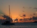 At anchor off La Digue