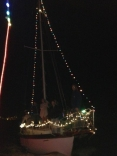 My Westsail 28 During The Cape Coral Holiday Parade On Sunday Night