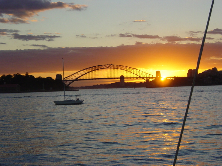 Sunset on Harbour