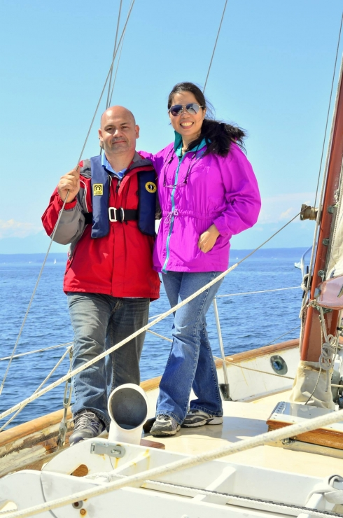 Rob And Sonia Sailing In Puget Sound