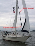 Cutter W/ Staysail Furled
