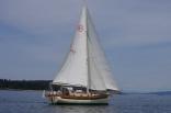 Pixie Under Sail