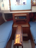 Columbia 29 Interior Looking Aft