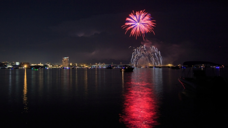 Fourth Of July Fun In Clearwater Harbor
