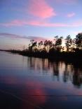 ingrams bayou at sunset