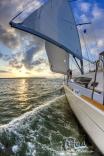 Sailing Up The North Edisto Near Charleston Sc