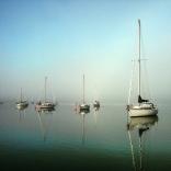 Peace And Sea. Beautiful Wake Up In A Sailing Ship