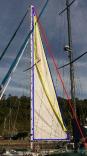 Overlap Shows Area Increase Over Hi Aspect Sail