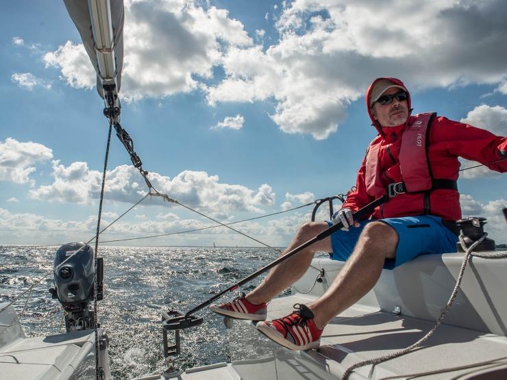 Bente 24 Sailing Near Kiel