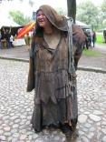 Beggar At Hämeenlinna Fair In Finland