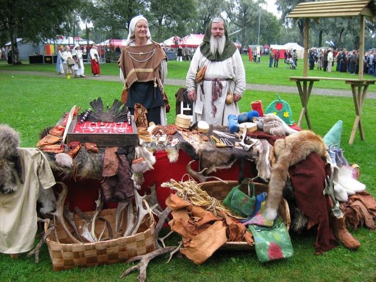 Laplanders Showing Their Wares