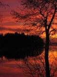 Sunset At Pyhäjärvi Lake