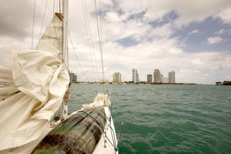 Starboard Side As We Headed East Toward South Beach