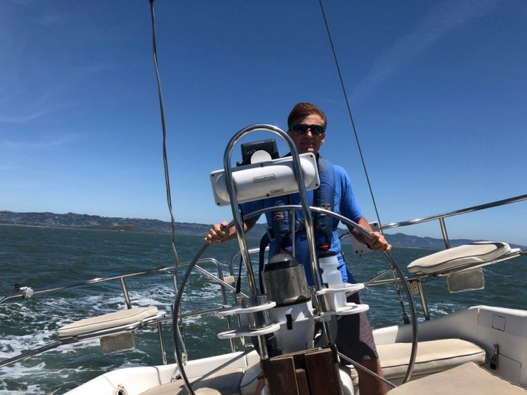 A Fun Day Of Sailing A Friend's Boat.