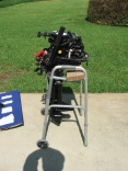 Improvised Outboard Stand