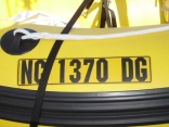Glue on Number Plate on Yellow Dink
