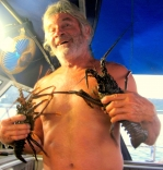 Keith With Dinner In The Banyak Islands