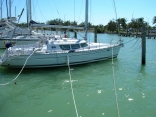 Wilma tie up at dock in miami