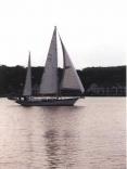 Full sail on lake mac.