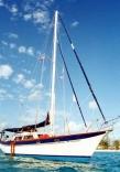 Rhapsody at anchor in Bimini