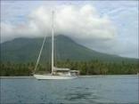 Enchantress Anchored Off Nevis