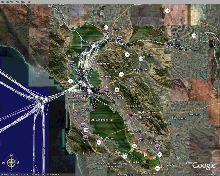 AIS Traffic - San Francisco Bay