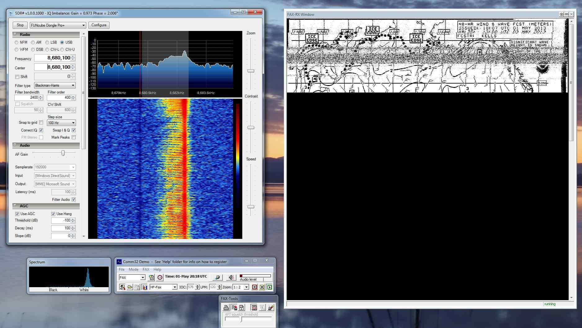 Wfax Reception Using Software Defined Radio