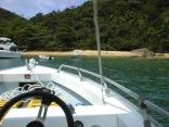 At anchor- Praia do Sul,  Ilha Anchieta