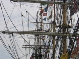 View of the rigging on the tall shps