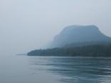 Thunder Cape in the fog Lake Superior