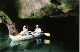 Exploring a sea cave on Stockton Island  Lake Superior