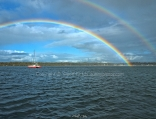 Double Rainbow. Salamander Bay, Port Stephens.