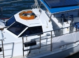Steel Hard Top/dodger On The Cruising Yacht Misty Of Gosford