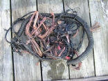 Melted copper cable