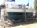 Painting the hull White