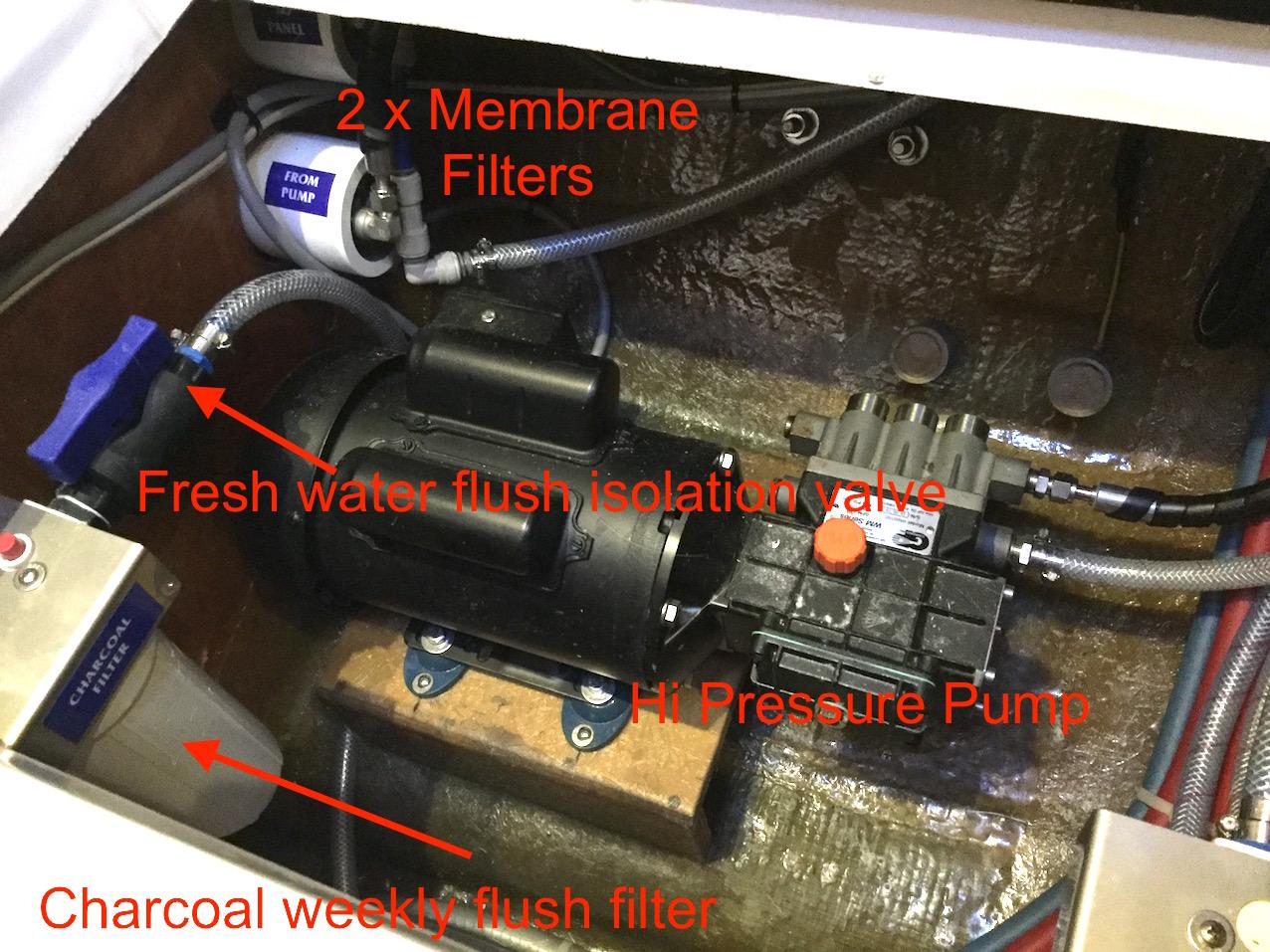 L450 Water Maker Install