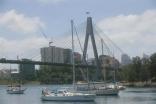 Yacht Liberte Anchored In Rozelle Bay, Sydney