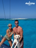 Daryl, Jessica And Sugar On Northwest Cay, Bahamas