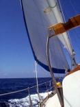 Sailing hard on the wind