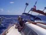 Miami over the stern rail