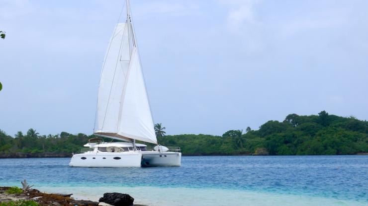 Our Catamaran In San Blas, Panama