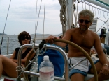 Captain Blood and wife easy sailing