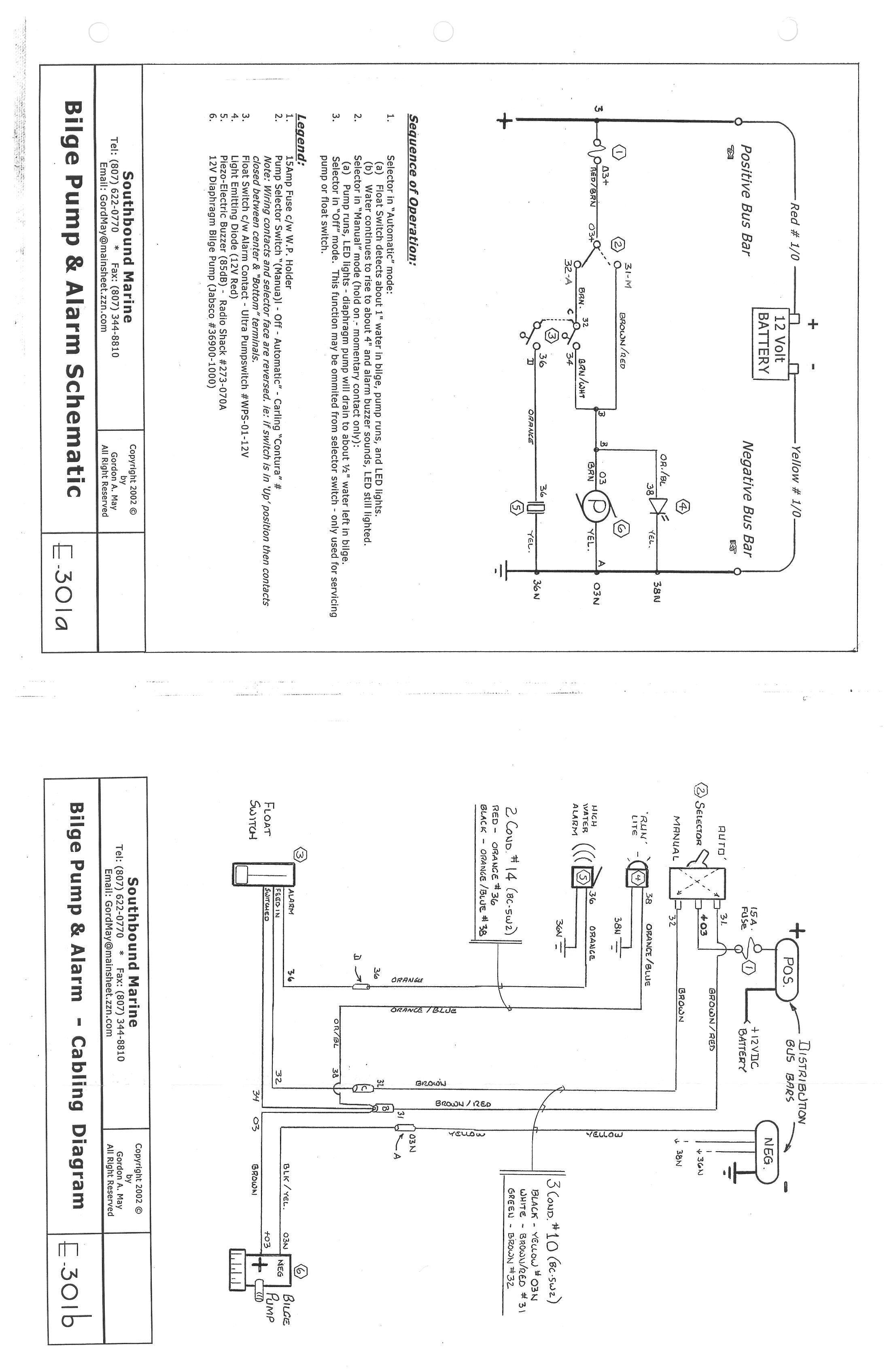 Bilge Alarm Wiring Diagram : Schematic bilge pump alarm e a cruisers sailing