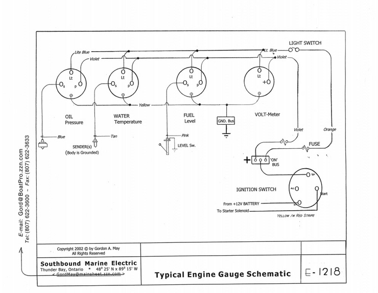 Engine Gauge Wiring Diagram