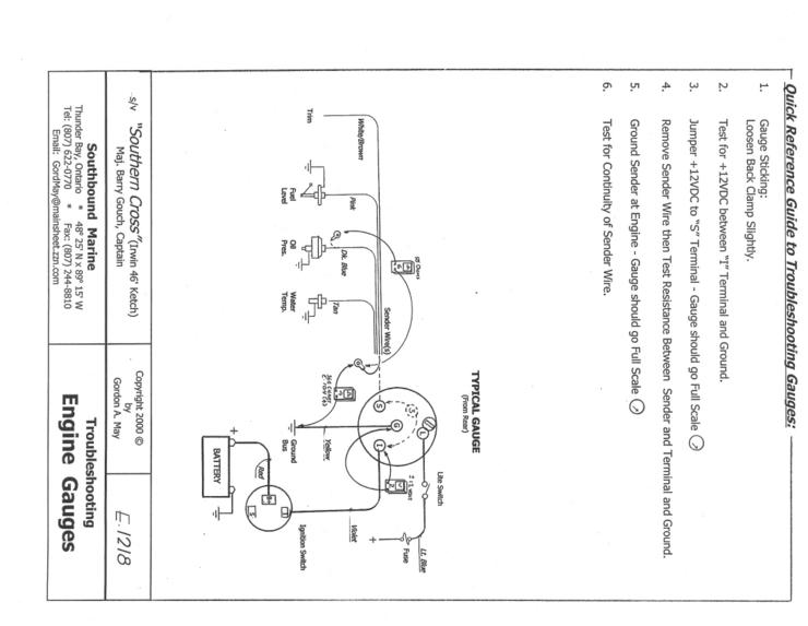 Typical Wiring Diagram - Engine Gauges