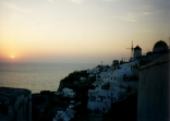 Santorini by sunset