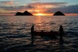 Girls Launching Kayak